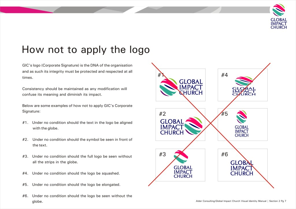 VID Manual - How not to use the logo